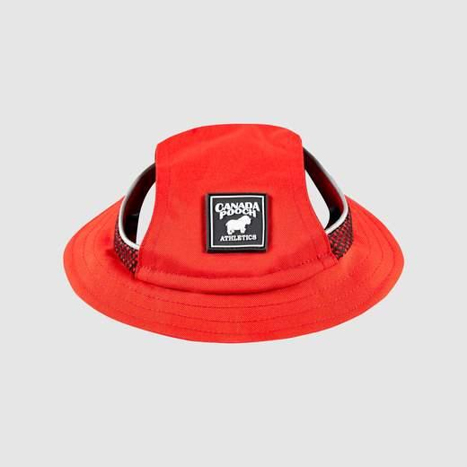 Canada Pooch Bel-Air Bucket Dog Hat, Red, Large