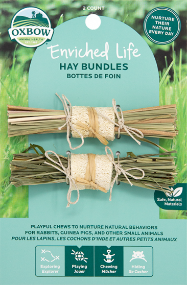 Oxbow Enriched Life Hay Bundles (Size: 0.98-in x 4.88-in x 7.28-in) Image