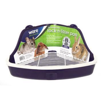 Ware Scatterless Lock-N-Litter Small Animal Pan, Medium