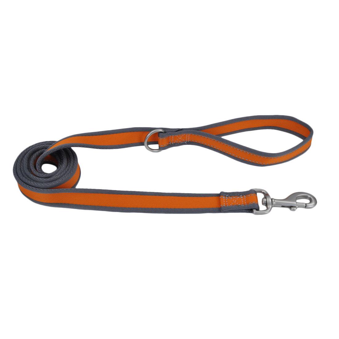 Pro Reflective Dog Leash, Bright Orange with Grey Image