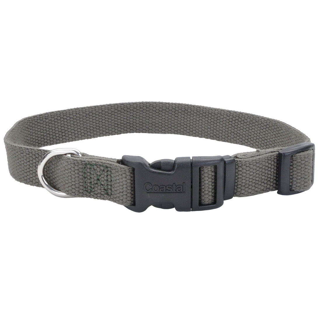 New Earth Soy Adjustable Dog Collar, Forest, 5/8-inx8-12-in
