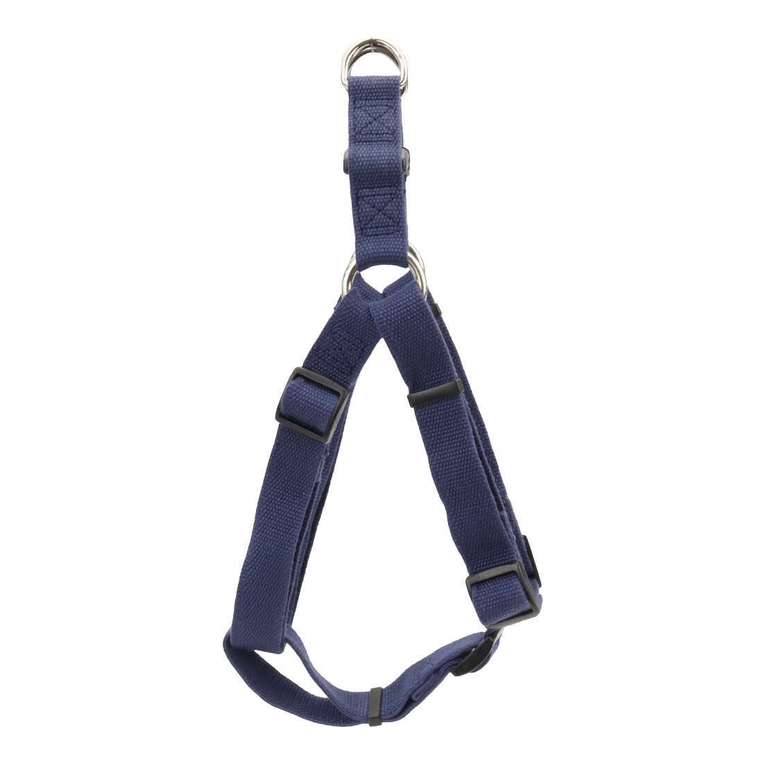 New Earth Soy Comfort Wrap Adjustable Dog Harness, Indigo, 3/4-inx20-30-in