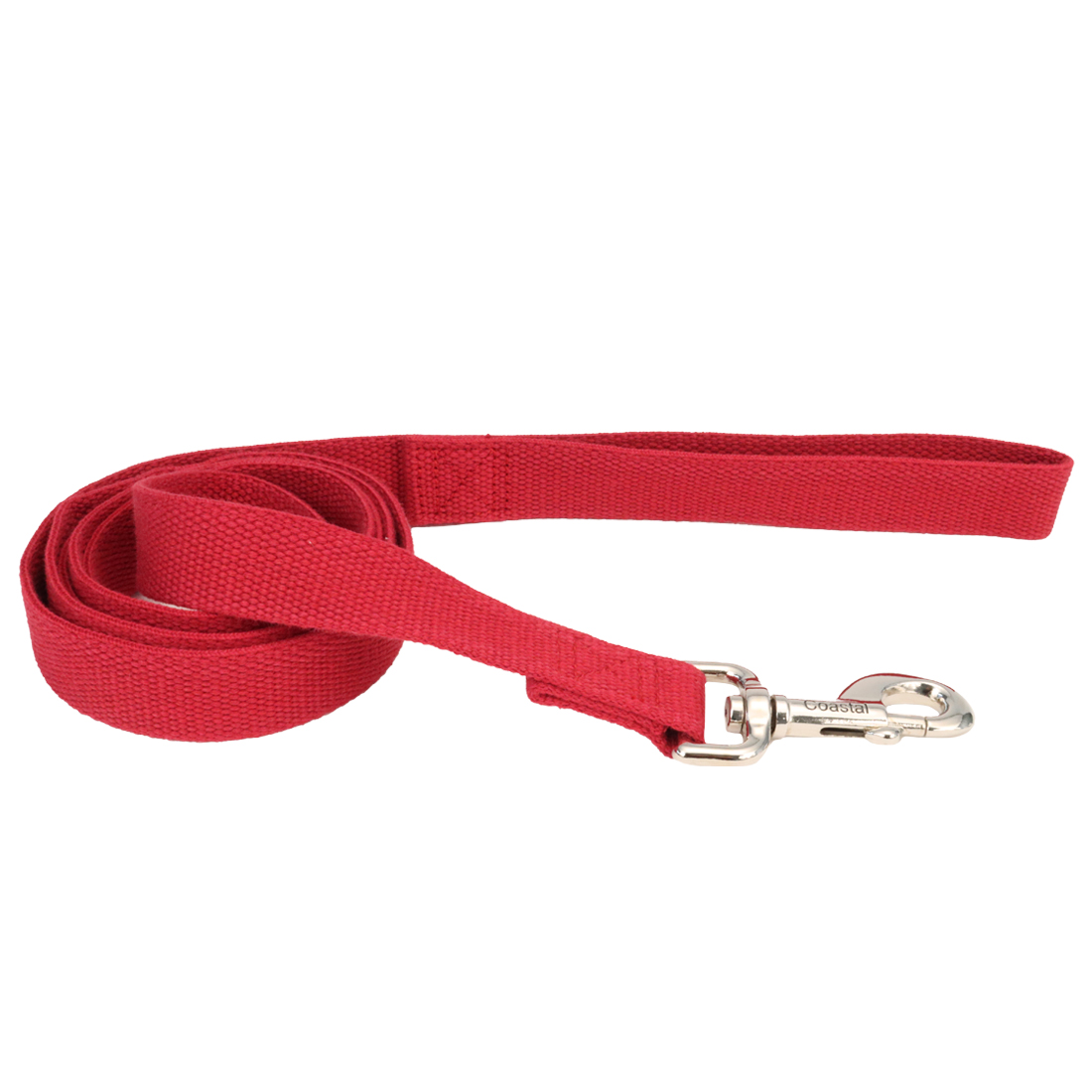 New Earth Soy Dog Leash, Cranberry, 5/8-inx-in