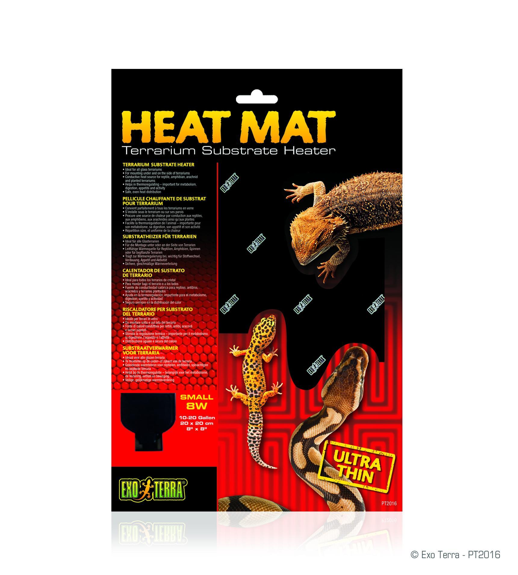 Exo Terra Ultra Thin Terrarium Substrate Heat Mat, 8-watt