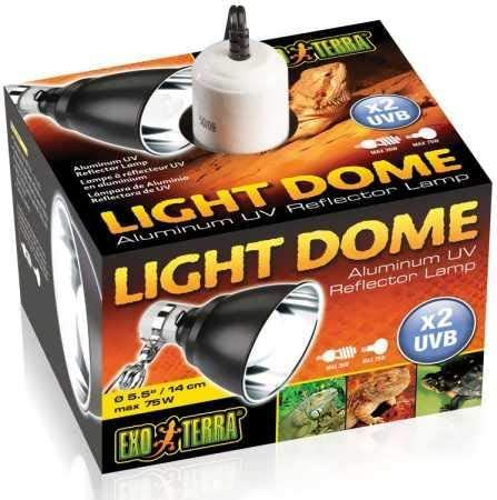 Exo Terra Mirror Dome Light for Terrariums, 5.5-in