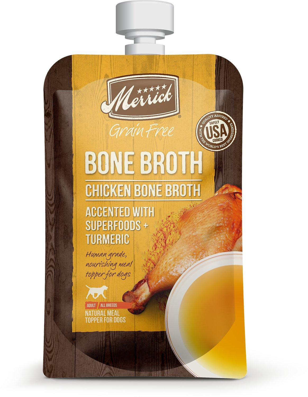 Merrick Chicken Bone Broth Grain-Free Dog Food Topper Image