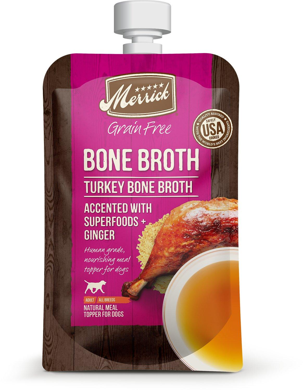 Merrick Turkey Bone Broth Grain-Free Dog Food Topper Image