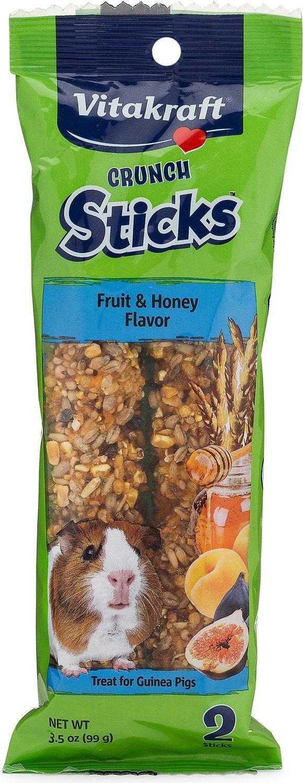 Vitakraft Crunch Sticks Fruit & Honey Flavor Guinea Pig Treats, 2-pk