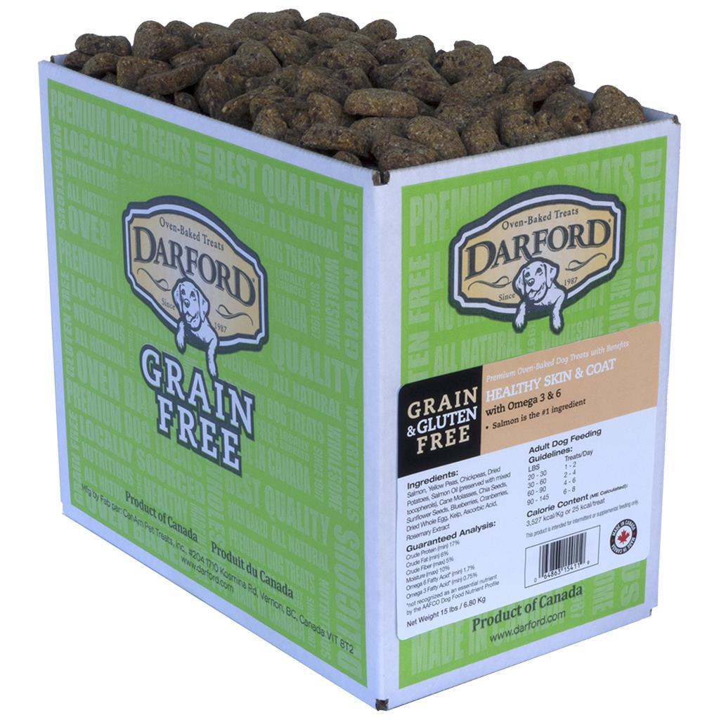 Darford Healthly Skin & Coat Grain-Free Dog Treats, 15-lb