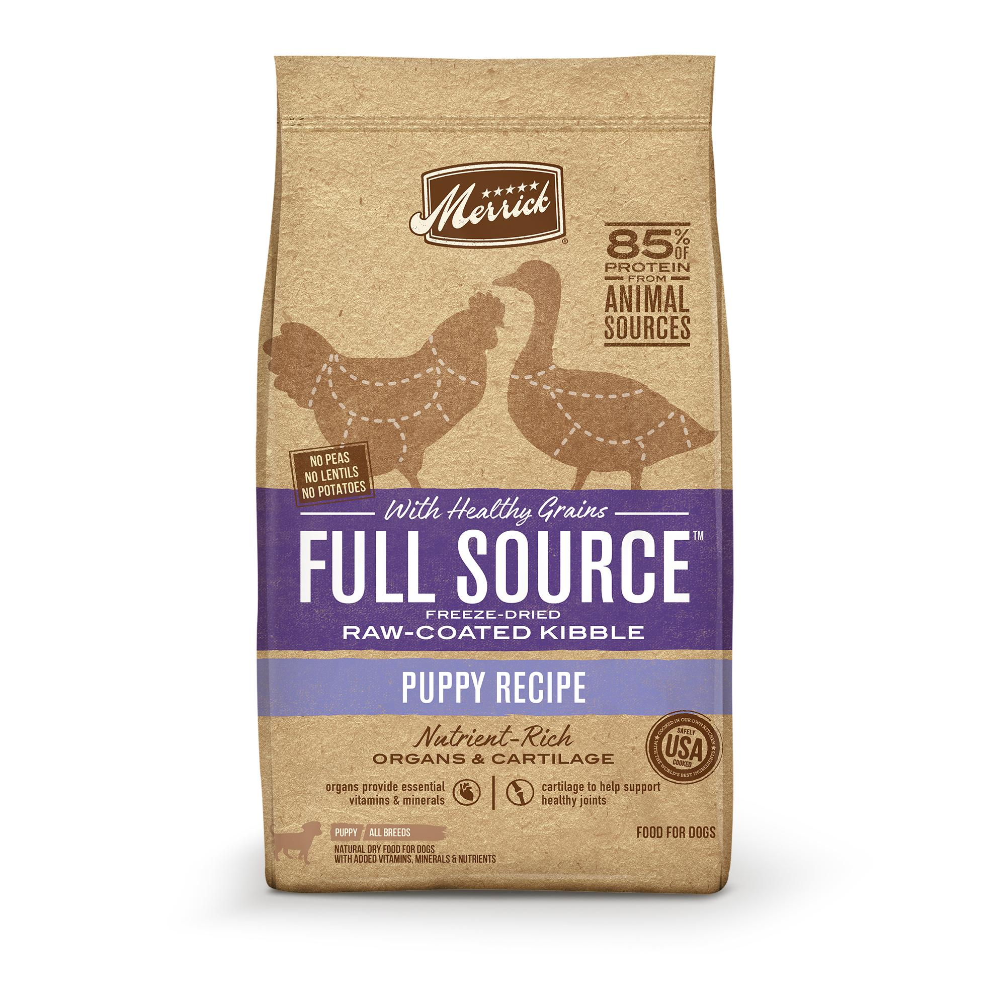 Merrick Full Source Puppy Healthy Grains Raw-Coated Dry Dog Food Image