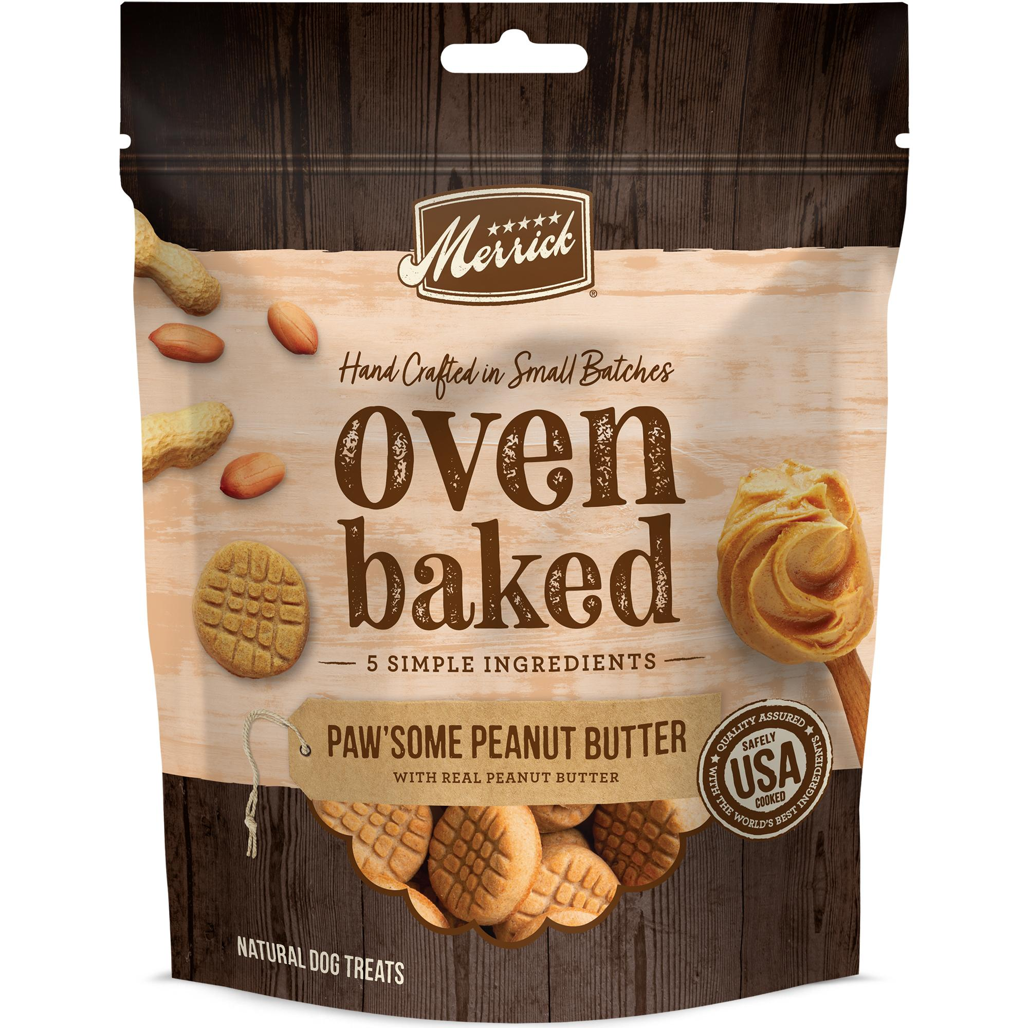 Merrick Oven Baked Paw'some Peanut Butter Dog Treats Image