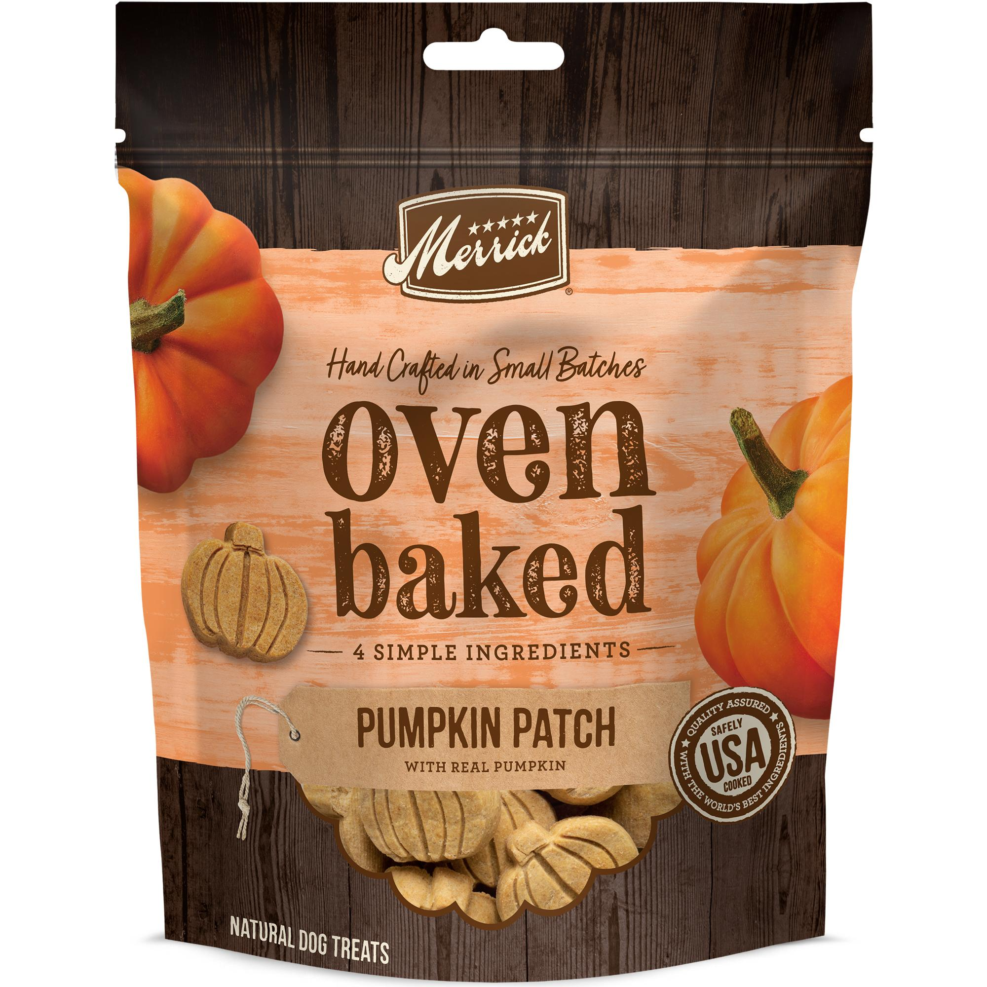 Merrick Oven Baked Pumpkin Patch Dog Treats, 11-oz