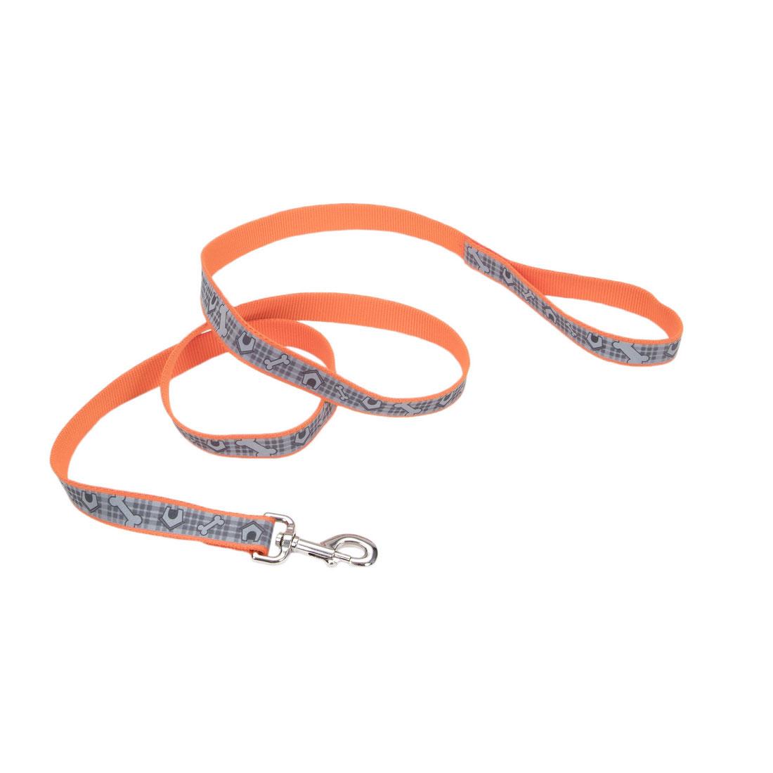 Lazer Brite Reflective Dog Leash, Orange Dog Houses, 1-inx6-inx6-in