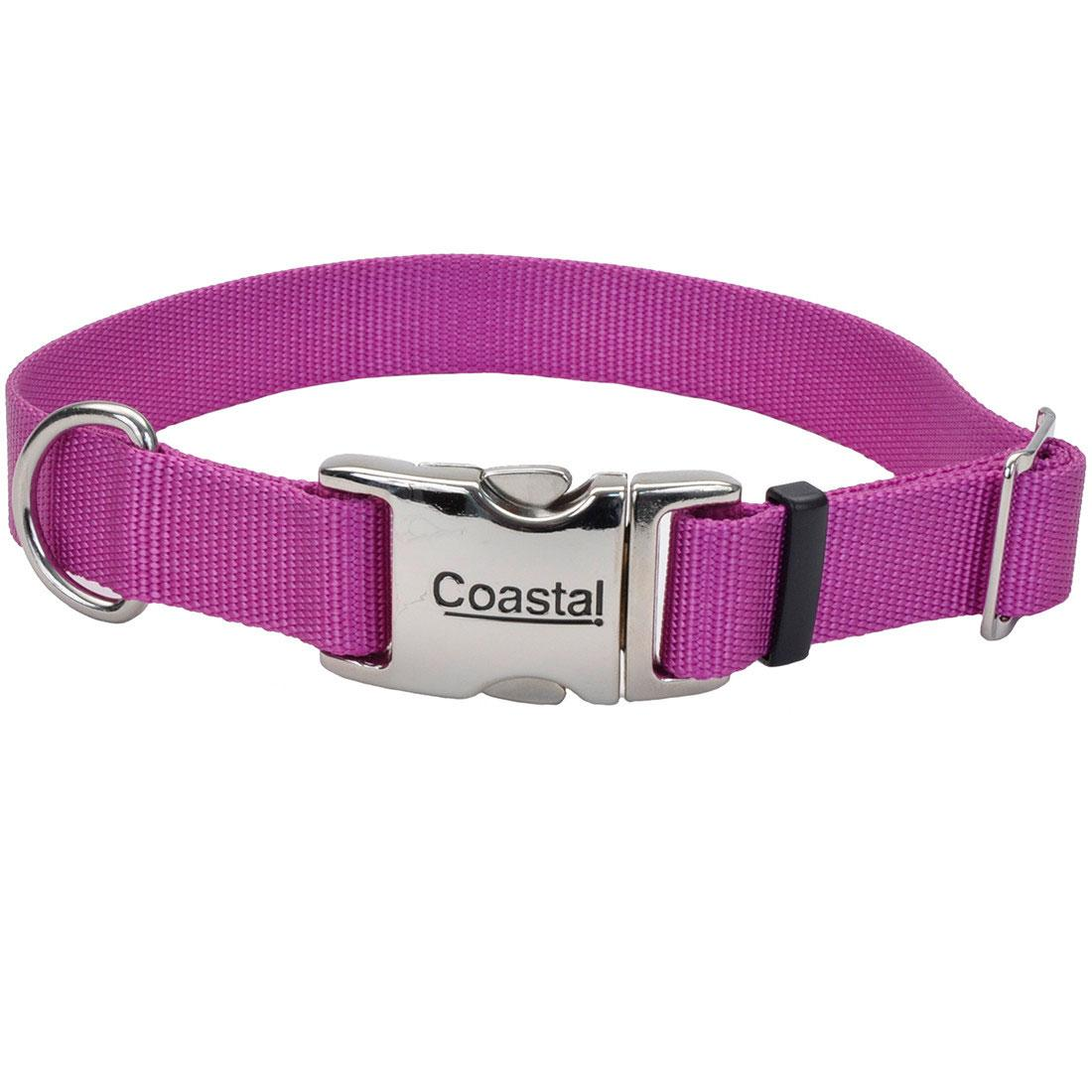 Coastal Adjustable Collar with Metal Buckle for Dogs, Orchid Image