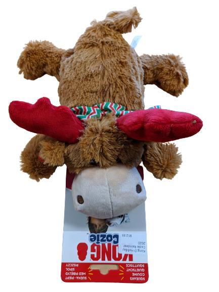 KONG Holiday Cozie Reindeer Dog Toy, Medium