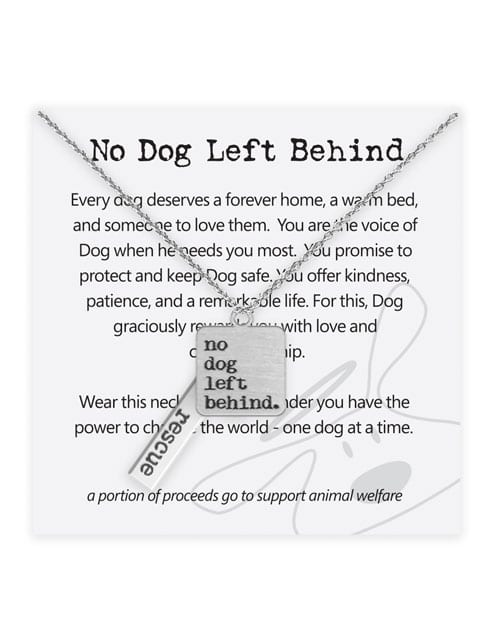 """Dog is Good """"No Dog Left Behind"""" Necklace Jewelry"""
