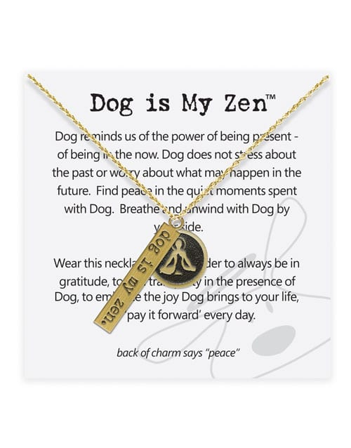 """Dog is Good """"Dog is Zen"""" Necklace Jewelry"""