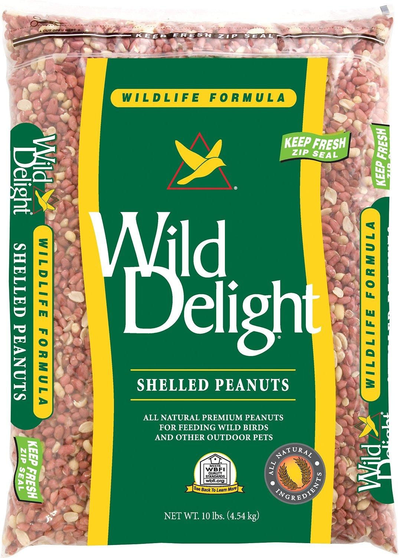 Wild Delight Shelled Peanuts Wild Bird Food, 10-lb
