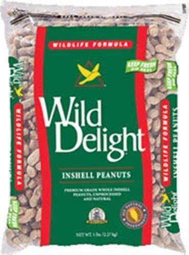Wild Delight Inshell Peanuts Wild Bird Food, 5-lb