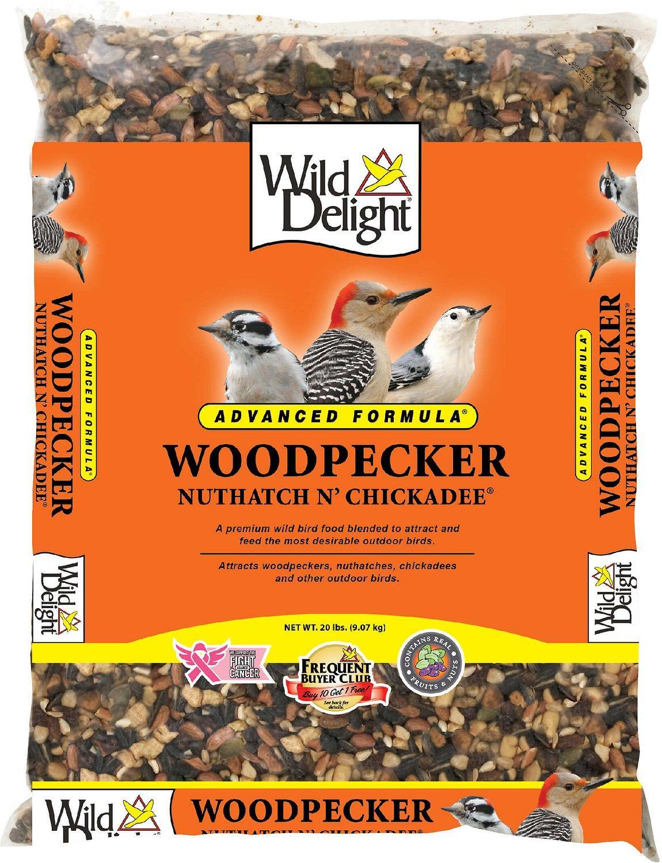 Wild Delight Advanced Formula Woodpecker, Nuthatch N' Chickadee Wild Bird Food, 20-lb