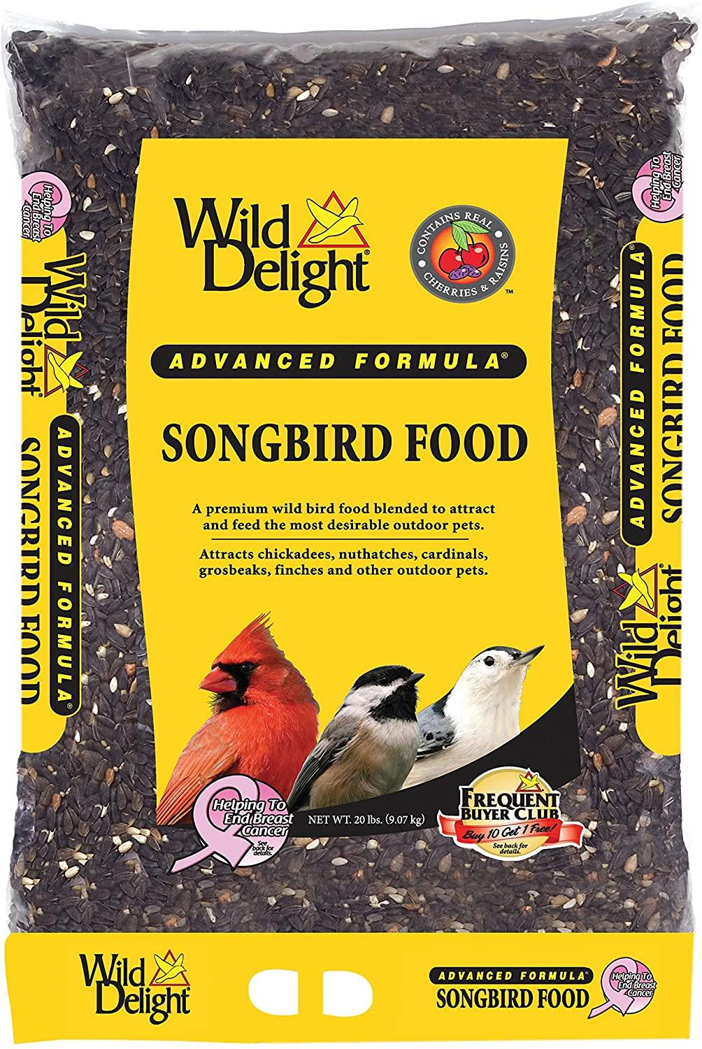 Wild Delight Advanced Formula Songbird Wild Bird Food, 20-lb