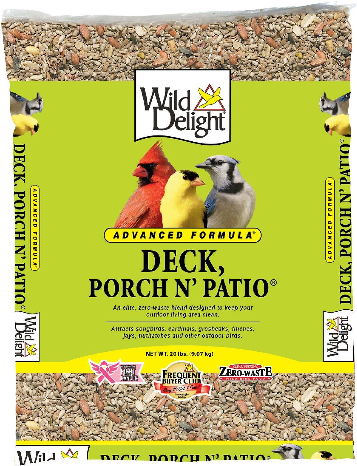 Wild Delight Advanced Formula Deck, Porch N' Patio Wild Bird Food, 20-lb