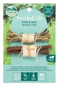 Oxbow Animal Health Enriched Life Stix & Hay for Small Animal Image