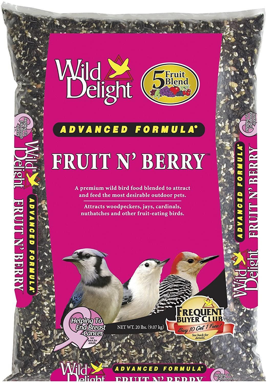 Wild Delight Fruit N' Berry Wild Bird Food, 20-lb