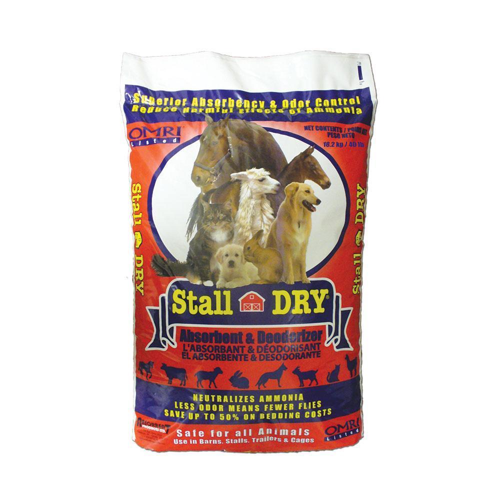 Absorbent Stall DRY Pet Absorbent & Deodorizer, 40.12-lb