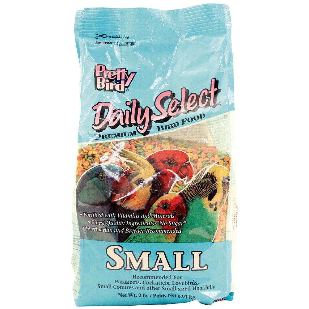Pretty Bird Daily Select Bird Food, Small, 2-lb
