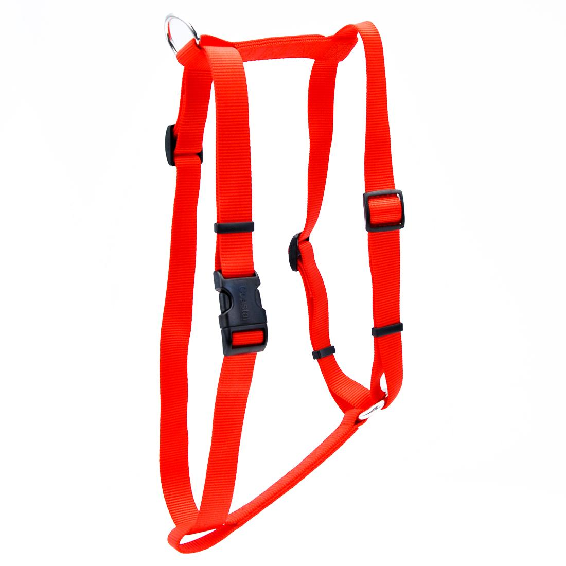 Coastal Standard Adjustable Dog Harness, Red, 1-in x 22-38-in