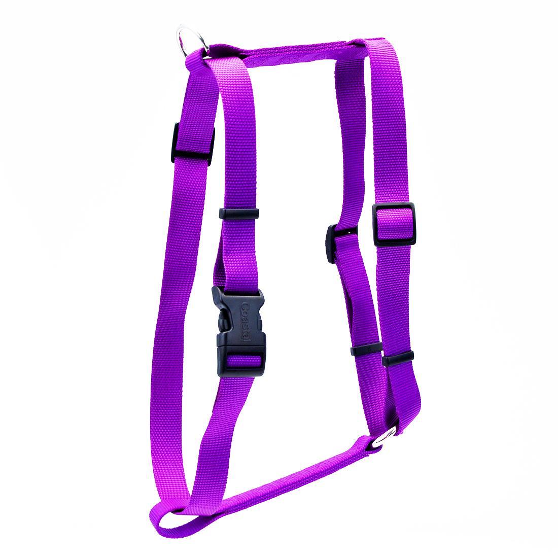 Coastal Standard Adjustable Dog Harness, Purple, 3/8-in x 10-18-in