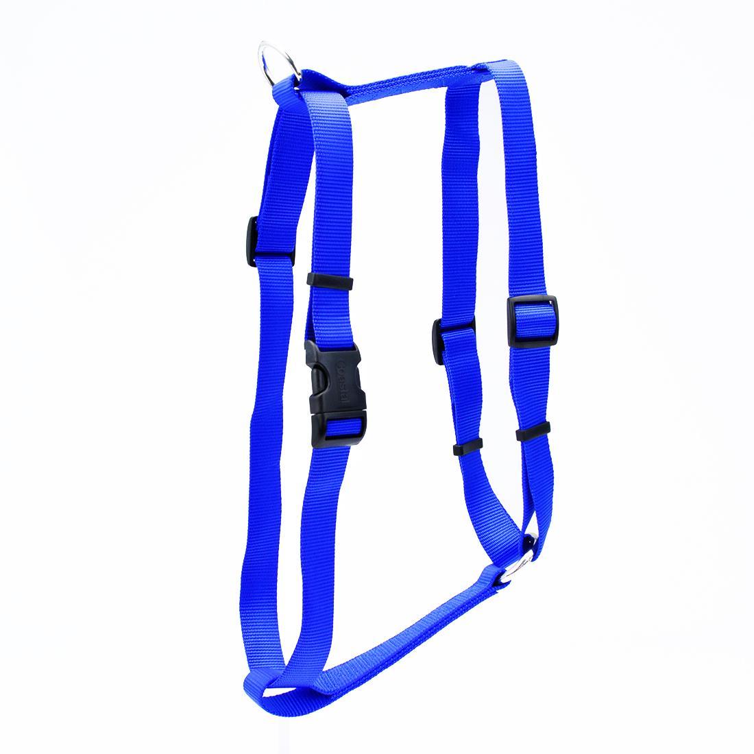 Coastal Standard Adjustable Dog Harness, Blue, 3/4-in x 18-30-in