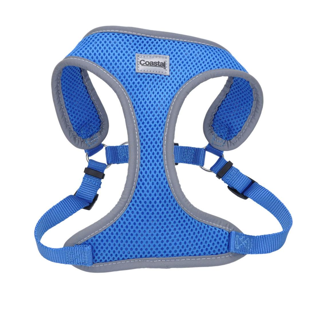 Coastal Comfort Soft Reflective Wrap Adjustable Dog Harness, Blue Lagoon, 5/8-in x 19-23-in