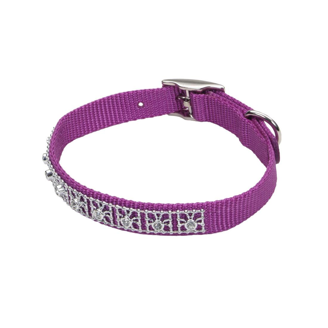 Coastal Jeweled Dog Collar, Orchid, 3/8-in x 10-in