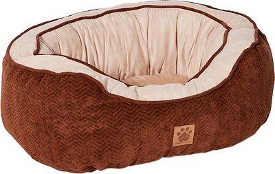 Precision Pet Chevron Chenille Gusset Daydreamer Pet Bed, Chocolate, Medium