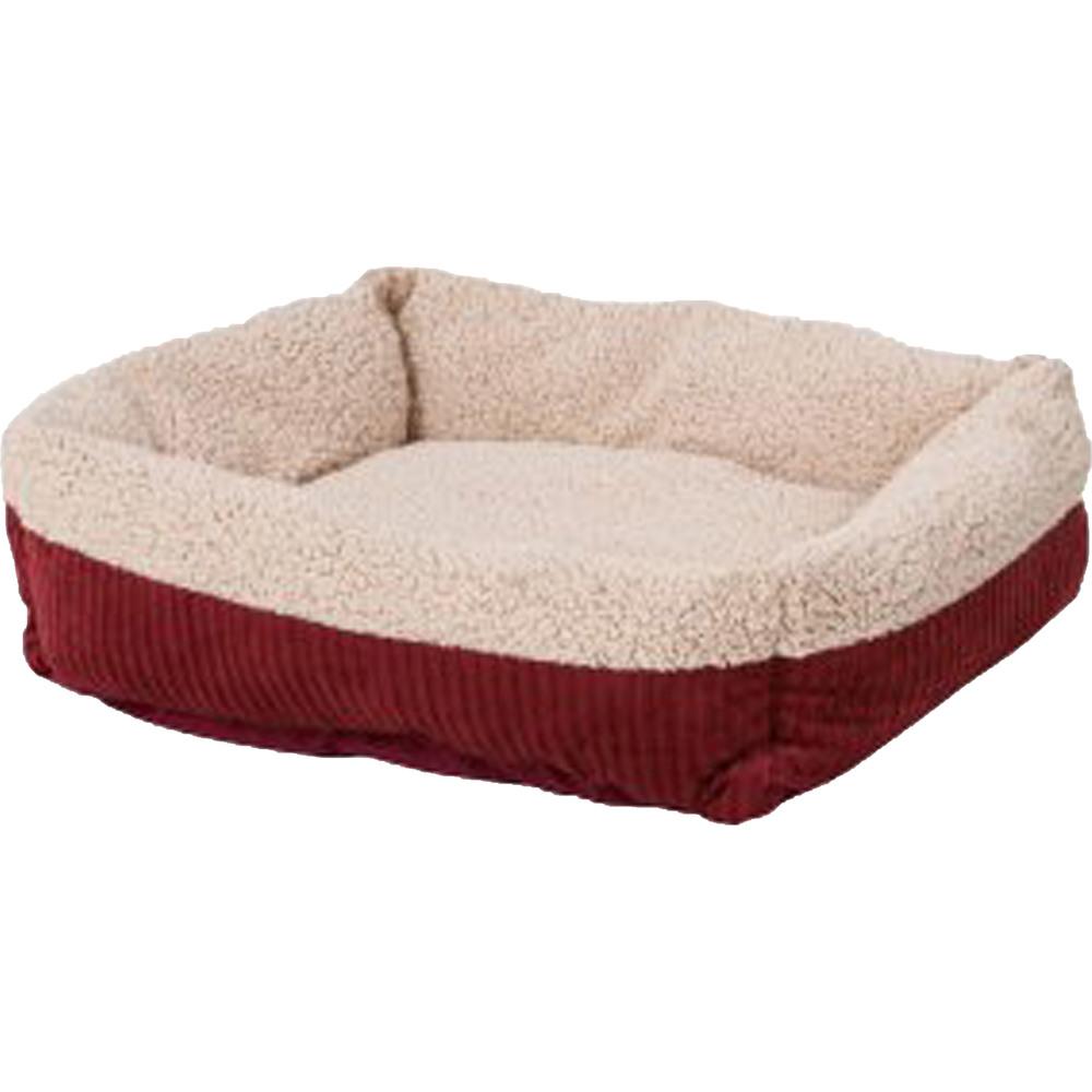 Petmate Self Warming Rectangular Lounger Pet Bed, Rust, 24-in x 20-in