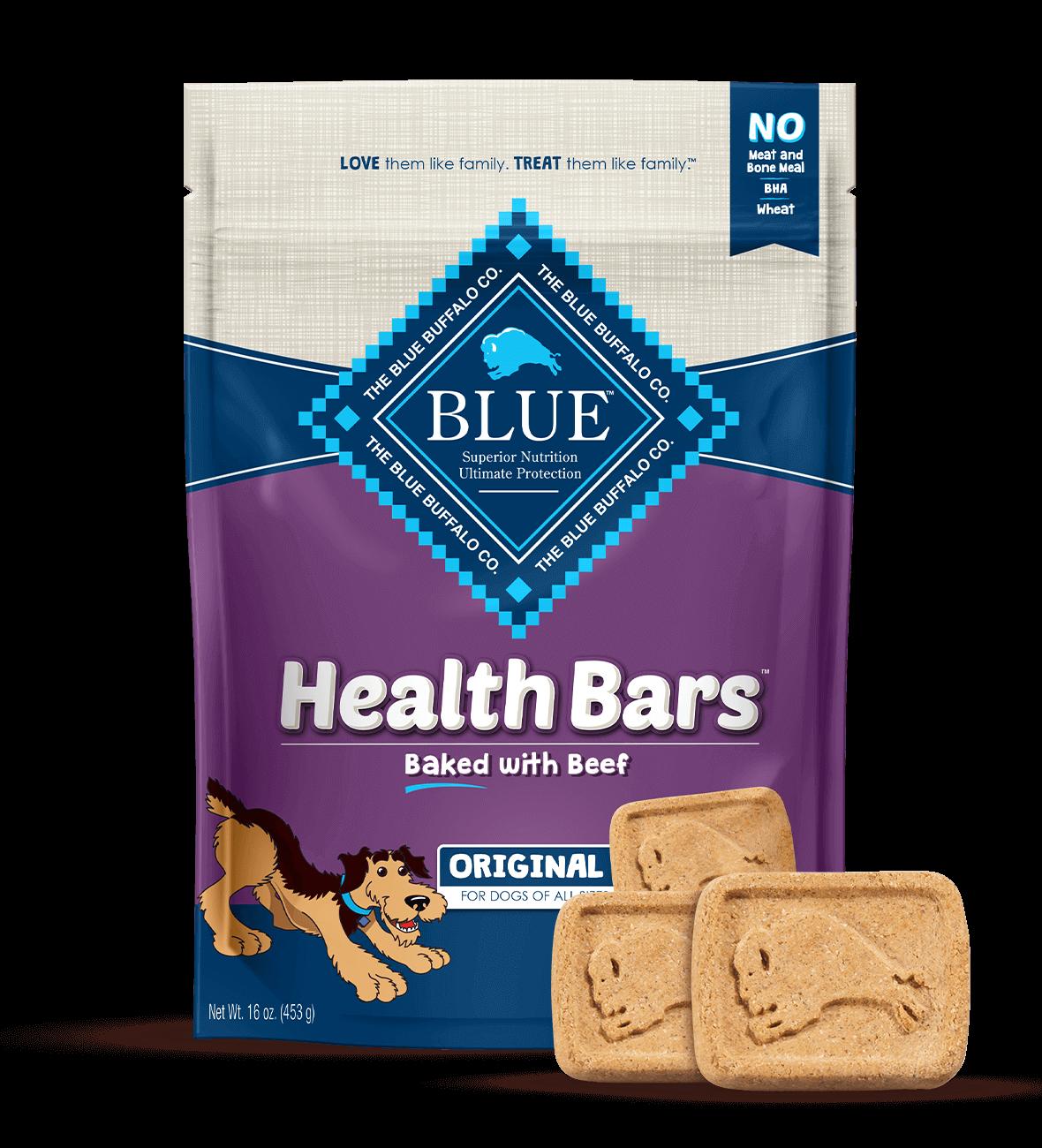 Blue Buffalo Health Bars Baked with Beef Dog Treats, 16-oz