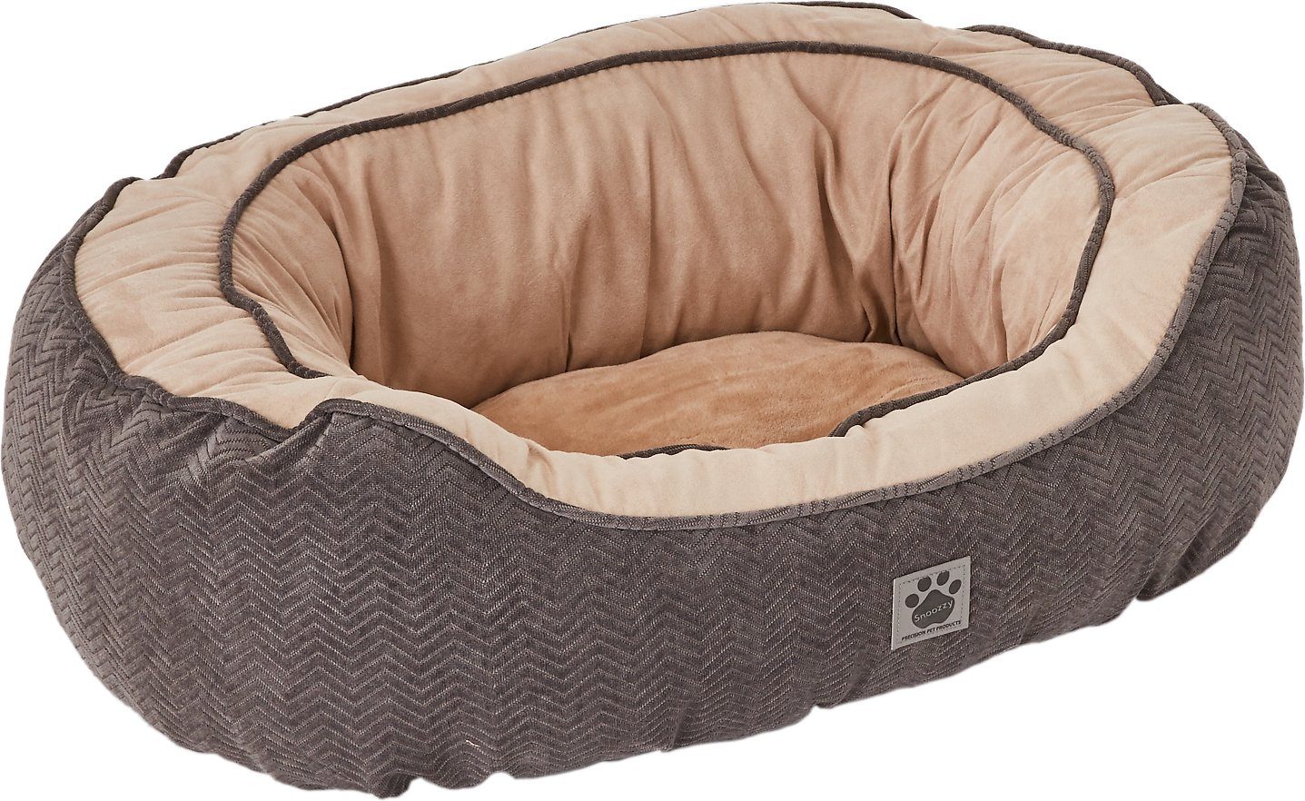 Precision Pet Chevron Chenille Gusset Daydreamer Pet Bed, Grey, Large