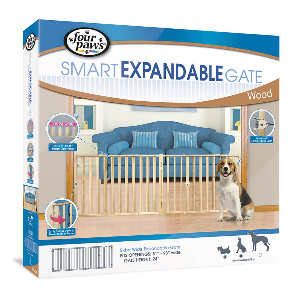 Four Paws Extra Wide Expandable Gate for Dogs Image