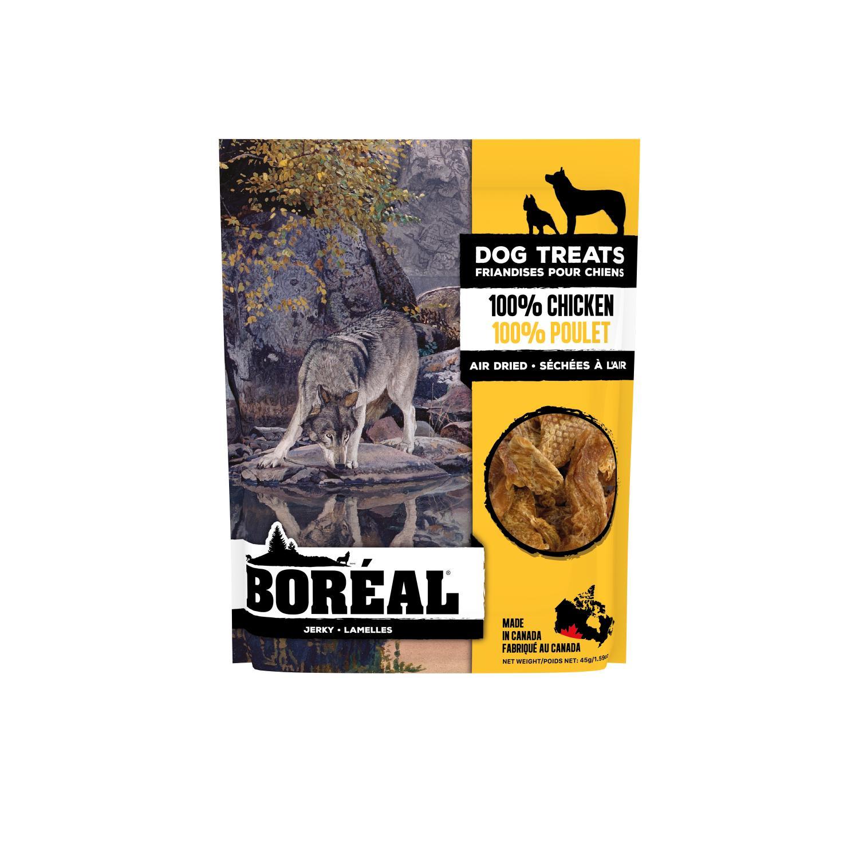 Boreal 100% Chicken Jerky Dog Treats, 45-gram