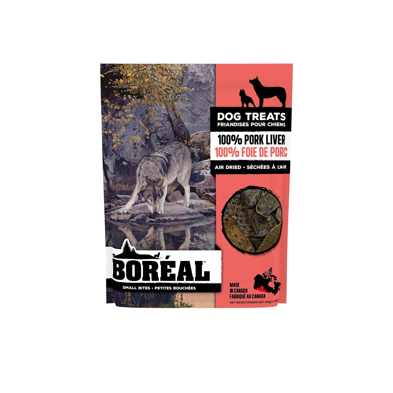 Boreal 100% Pork Liver Small Bites Dog Treats, 45-gram