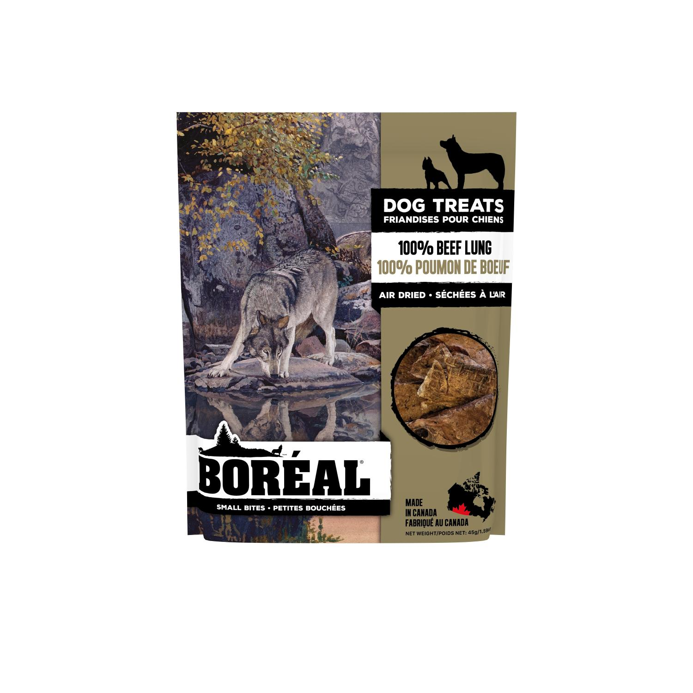 Boreal 100% Beef Lung Small Bites Dog Treats, 45-gram