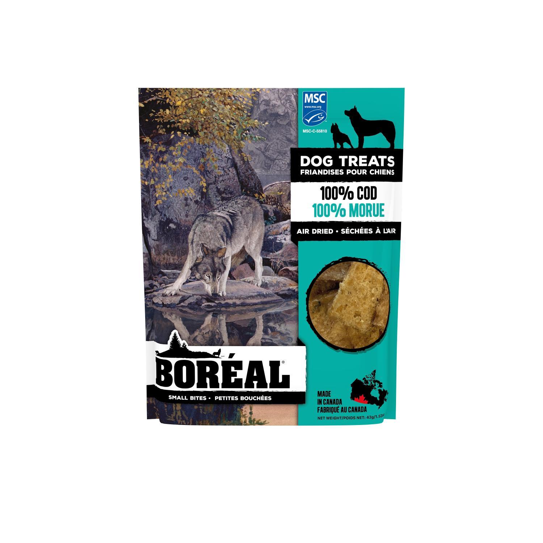 Boreal 100% Cod Small Bites Dog Treats, 43-gram