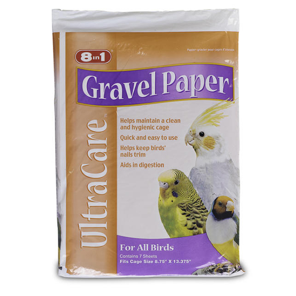 8 in 1 Gravel Paper for Birds, 8-3/4-in x 13-3/8-in Image