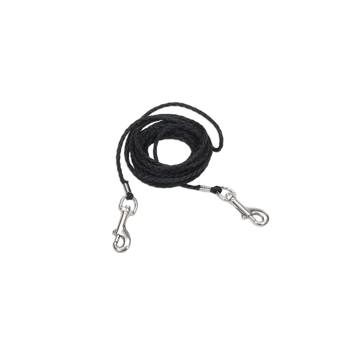 Coastal Poly Cat Tie Out, Black, 1/8-in x 15-ft
