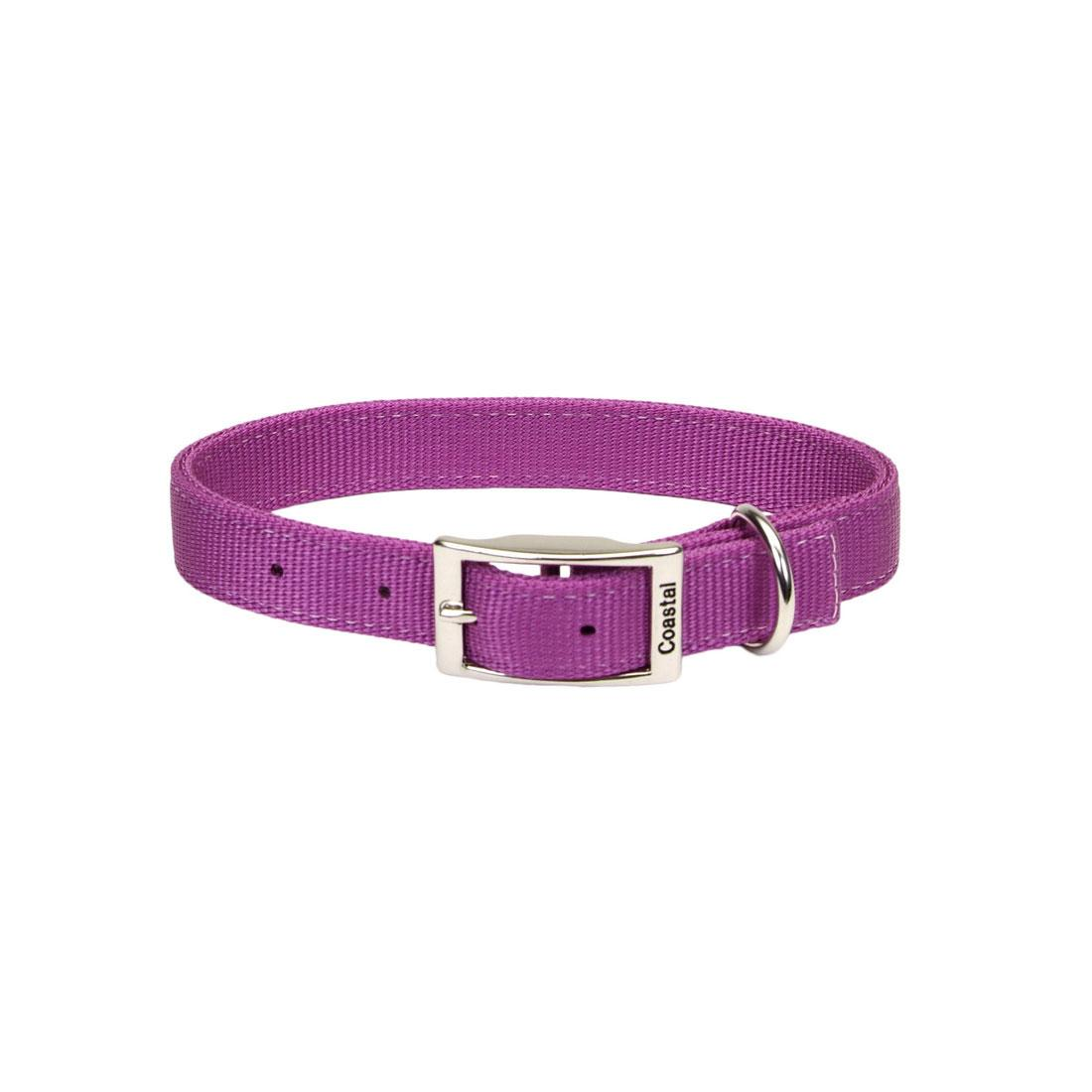 Coastal Double-Ply Dog Collar, Orchid, 1-in x 26-in