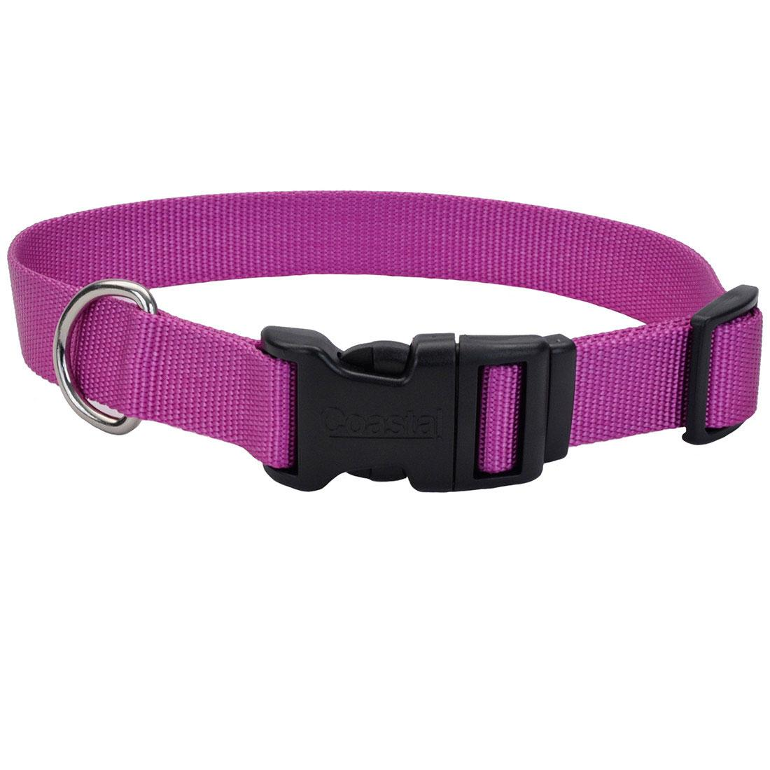 Coastal Adjustable Collar with Plastic Buckle for Dogs, Orchid Image