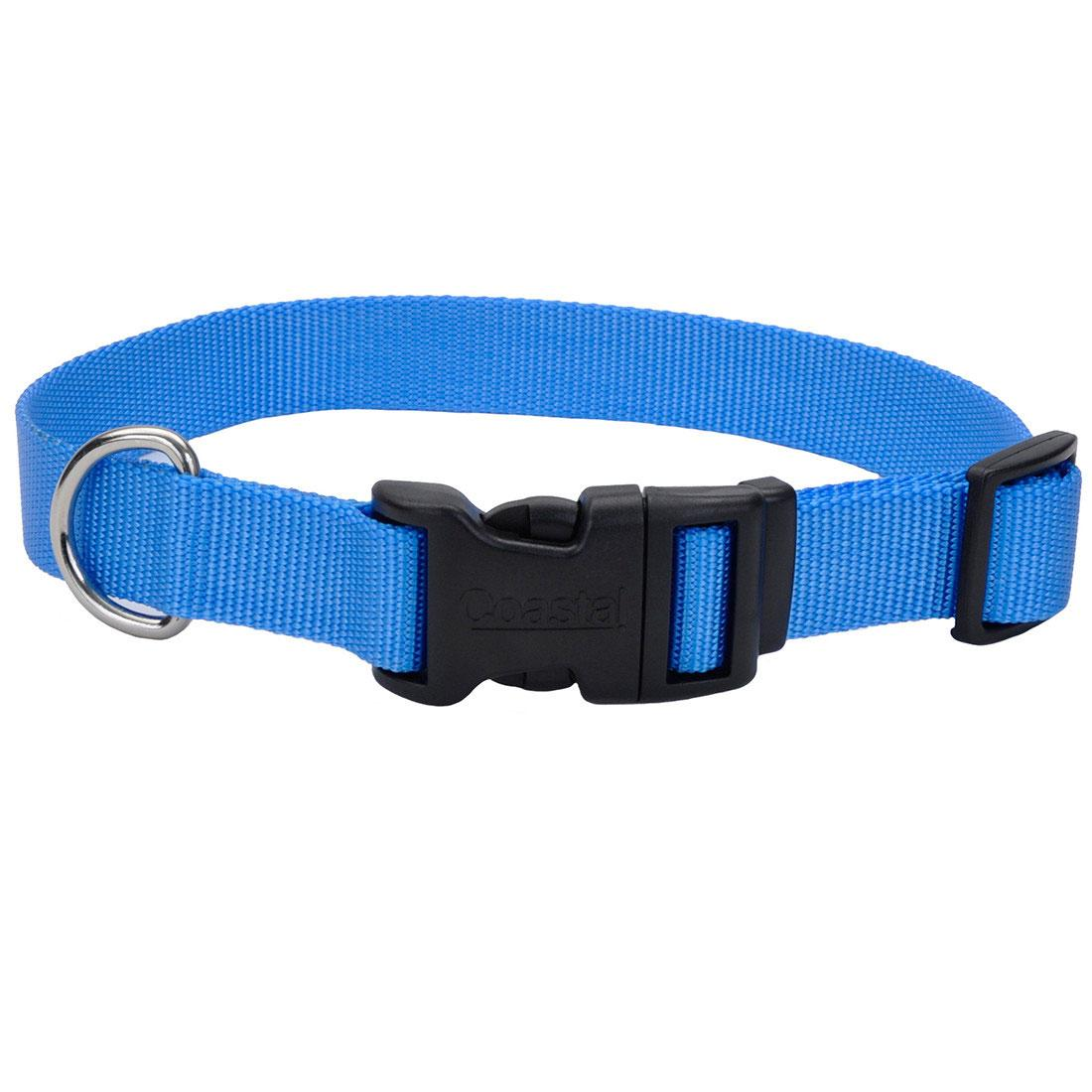 Coastal Adjustable Collar with Plastic Buckle for Dogs, Blue Lagoon Image