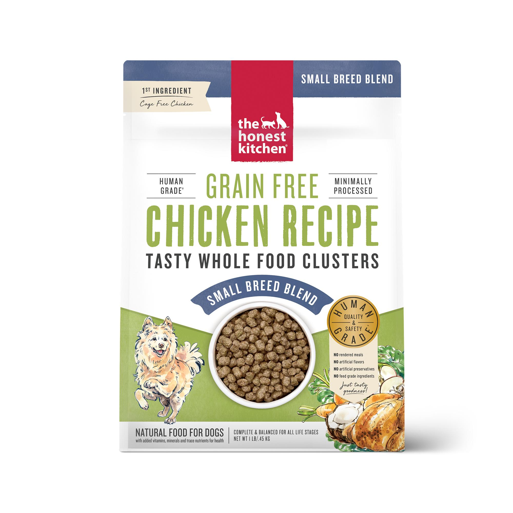 The Honest Kitchen Whole Food Clusters Chicken Small Breed Grain-Free Dry Dog Food, 1-lb